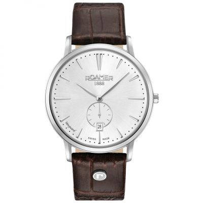Roamer VAnguArd Slim Line Herrenuhr in Braun 980812411509