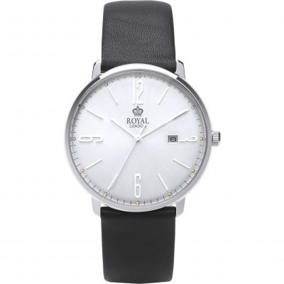 Royal London Classic Slim Herrenuhr in Schwarz 41342-01