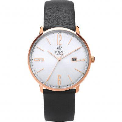 Royal London Classic Silm Herenhorloge Zwart 41342-07