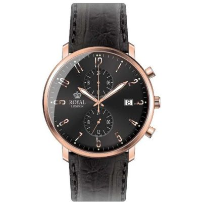 Mens Royal London Slim Multi-function Watch 41352-07