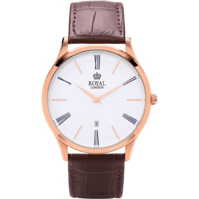Royal London Classic Herenhorloge Bruin 41371-04