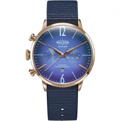 Welder The Moody 45mm Unisexchronograaf Blauw K55/WRC500