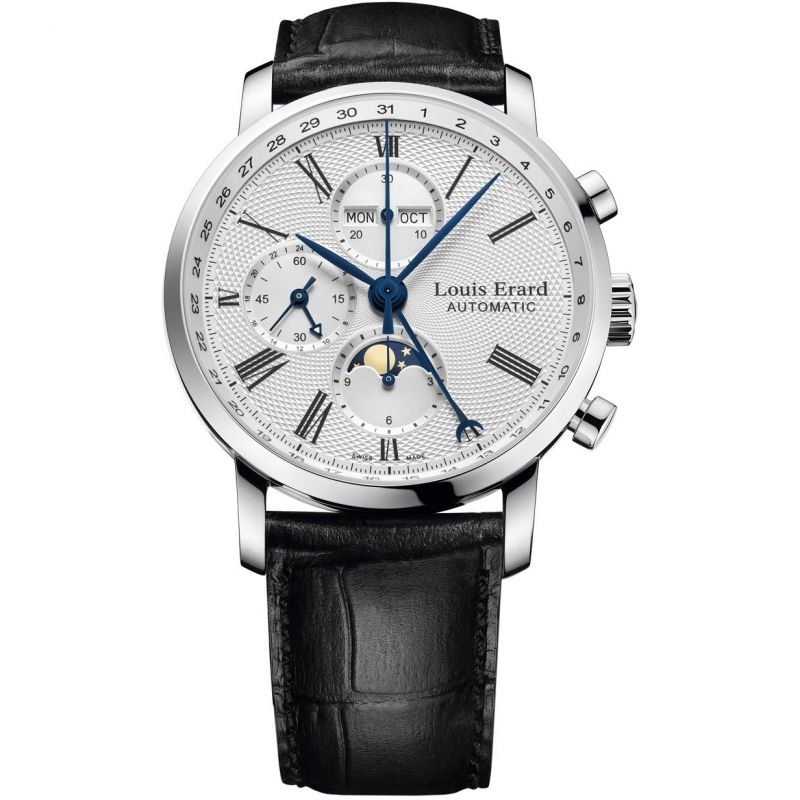 Mens Louis Erard Excellence Moonphase Automatic Chronograph Watch 80231AA21.BDC51