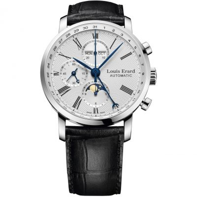 Louis Erard Excellence Moonphase Herrenchronograph in Schwarz 80231AA21.BDC51
