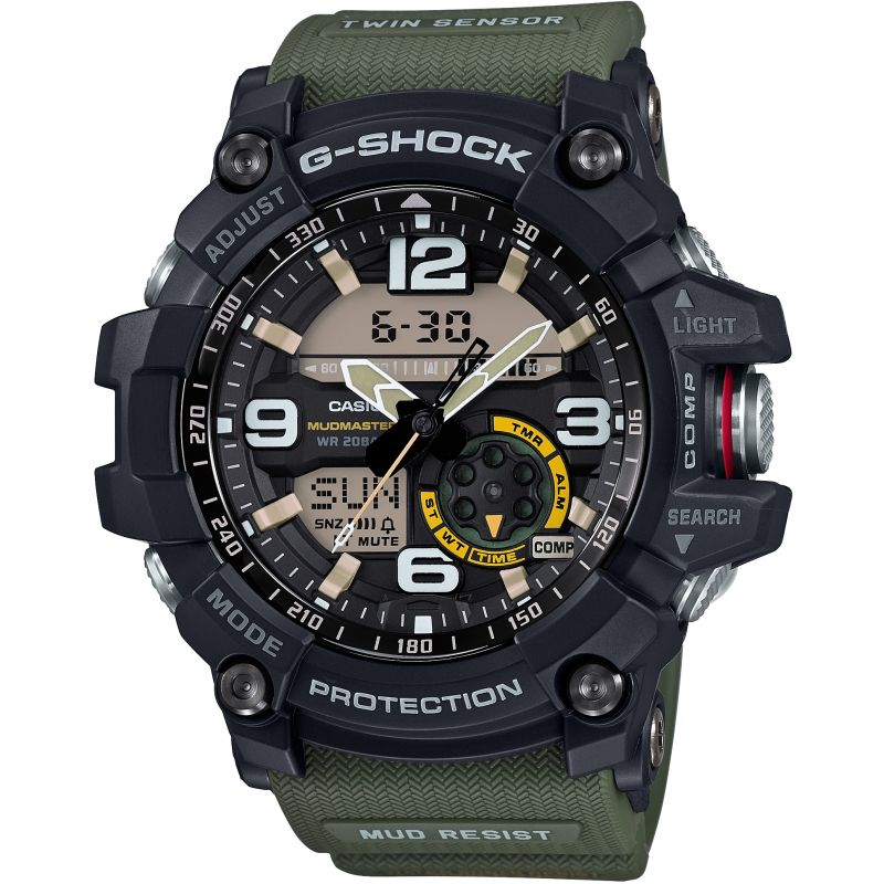Mens Casio G-Shock Mudmaster Master Of G Alarm Chronograph Watch