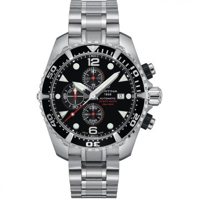 Certina DS Action Diver Herrenchronograph in Silber C0324271105100