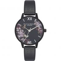 Ladies Olivia Burton After Dark Black & Black IP Watch