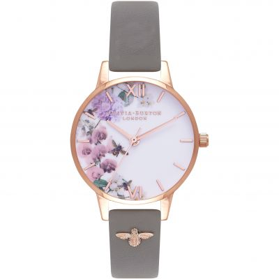 Montre Femme Olivia Burton Embellished Strap Rose Gold & London Grey OB16ES06
