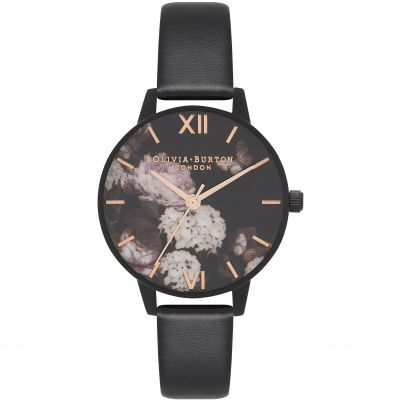 Vegan Friendly Floral & Black Watch