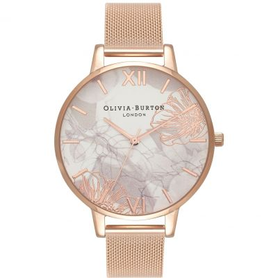 Montre Femme Olivia Burton Abstract Florals Rose Gold & Rose Gold OB16VM15