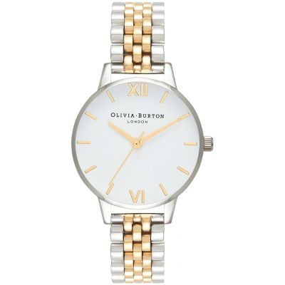 Montre Femme Olivia Burton White Dial Mesh Gold & Silver And Gold OB16MDW34