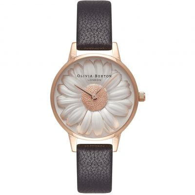 Montre Femme Olivia Burton Rainbow Bee Rose Gold & Black OB16FS97