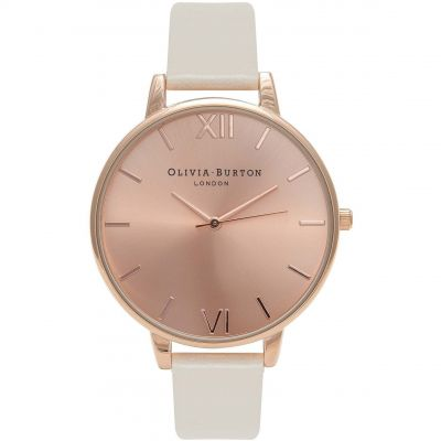 Big Dial Rose Gold Sunray & Nude Watch