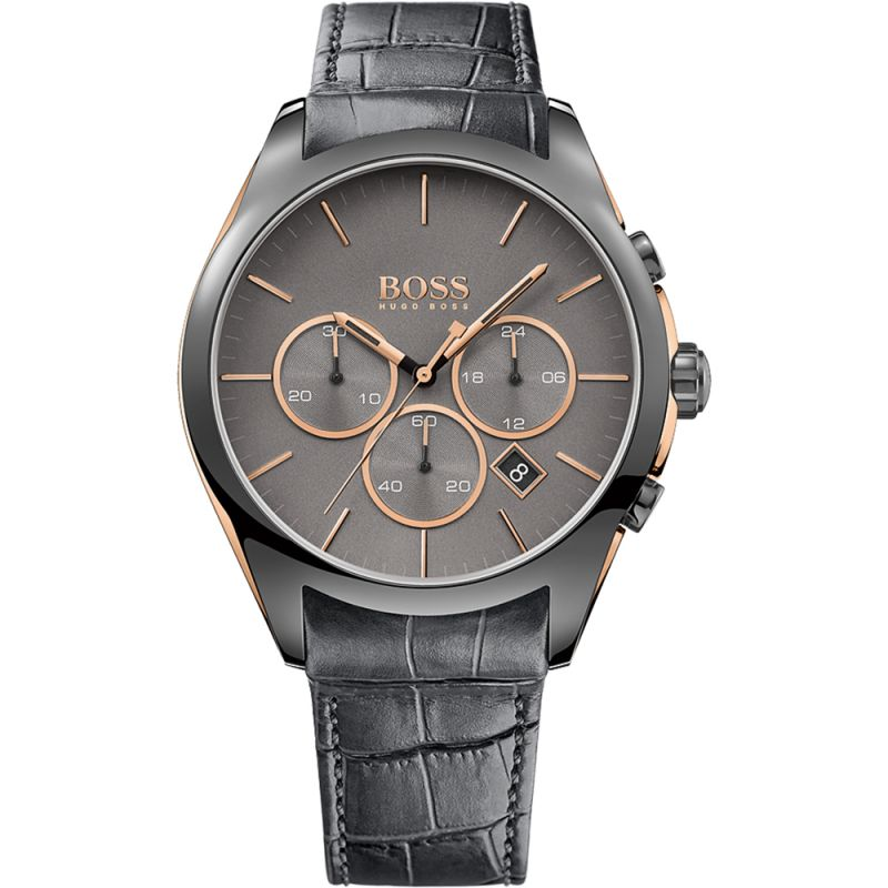 Mens Hugo Boss Onyx Chronograph Watch