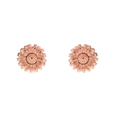 Ladies Olivia Burton Rose Gold Plated Sterling Silver 3D Daisy Stud Earrings OBJ16DAE14