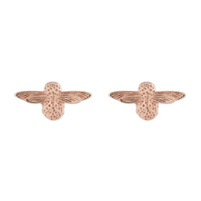 3D Bee Studs Rose Gold Earrings OBJ16AME23