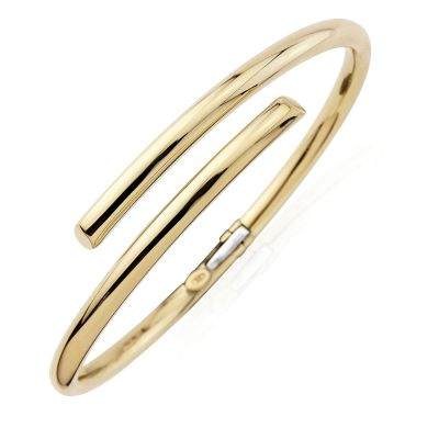 Bijoux Jewellery Polished Round-Sectioned Tubing Crossover Bracelet
