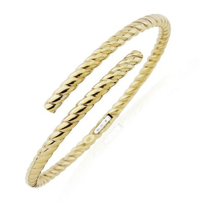 Jewellery Oval Tube Twisted Crossover Armreif