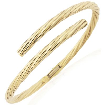 Bijoux Jewellery Oval Section Tubing Crossover Bracelet