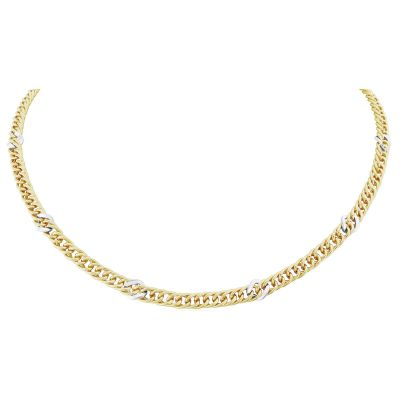Jewellery Fancy Curb Link Necklace 17 inches/43cm