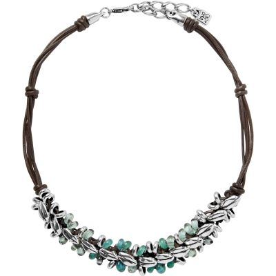 Ladies UNOde50 Silver Plated La Siembra Necklace COL1193VRDMAR0U