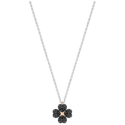 Ladies Swarovski Two-Tone Steel and Rose Plate Latisha Flower Necklace 5368980