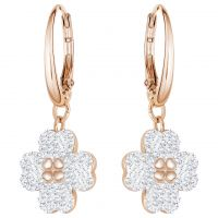 Ladies Swarovski Rose Gold Plated Latisha Flower Earrings 5420249