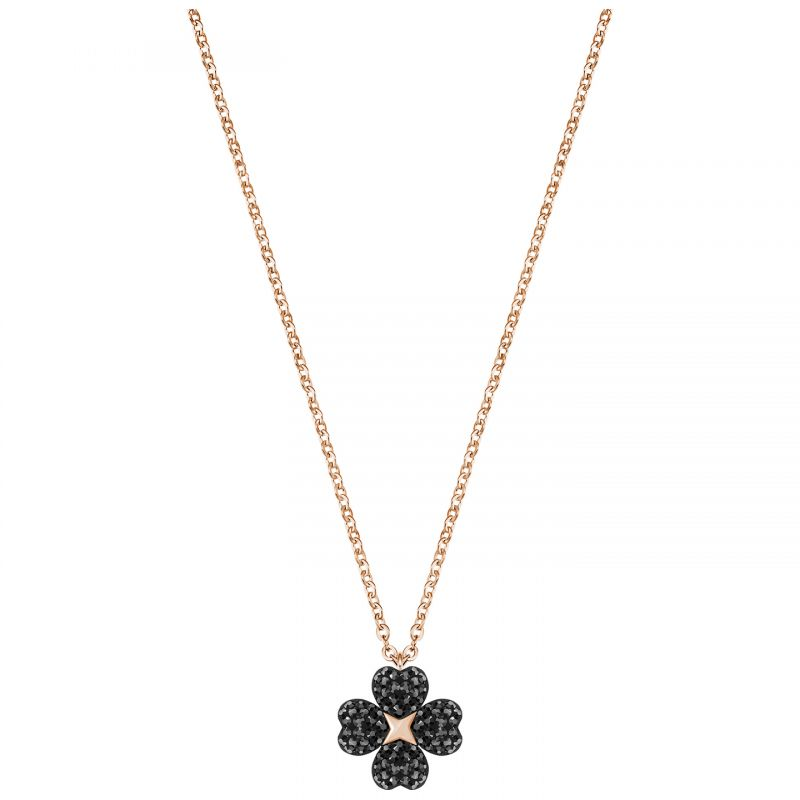 Ladies Swarovski Rose Gold Plated Latisha Flower Necklace 5420246
