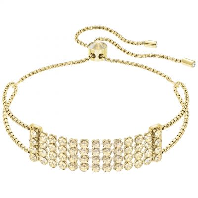 Ladies Swarovski Gold Plated Fit Slider Bracelet 5386195