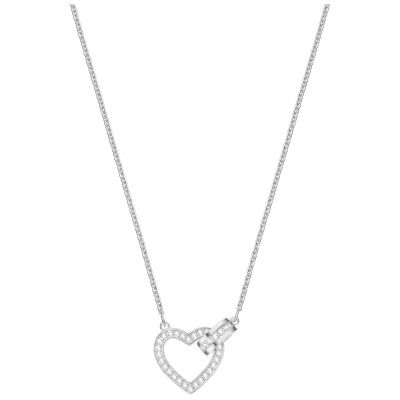 Ladies Swarovski Silver Plated Lovely Heart Necklace 5380703