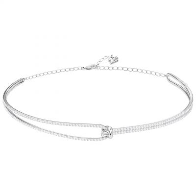 Ladies Swarovski Silver Plated Lifelong Choker Necklace 5390822
