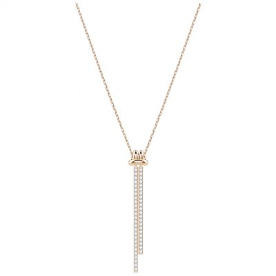Ladies Swarovski Rose Gold Plated Lifelong Long Necklace 5390817