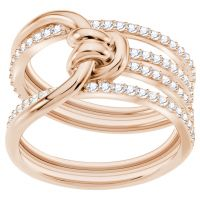 Ladies Swarovski Rose Gold Plated Lifelong Ring Size N 5402432