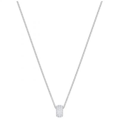 Ladies Swarovski Silver Plated Stone Necklace 5368042
