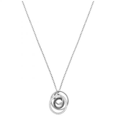 Ladies Swarovski Silver Plated Greeting Necklace 5380554