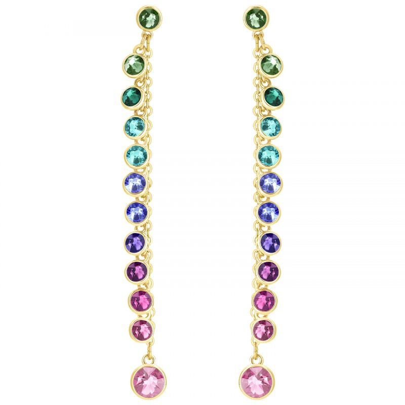 Image of            Ladies Swarovski Gold Plated Attract Earrings