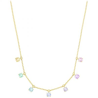 Ladies Swarovski Gold Plated Attract Necklace 5384392