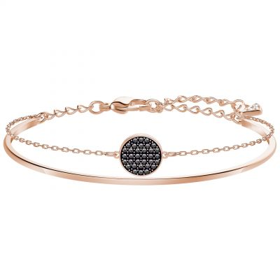Ladies Swarovski Rose Gold Plated Ginger Bangle 5389046