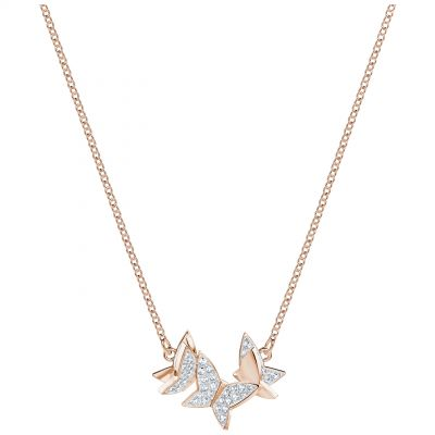 Ladies Swarovski Rose Gold Plated Lilia Butterfly Necklace 5382366