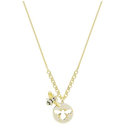 Ladies Swarovski Gold Plated Lisabel Bee Necklace 5365641