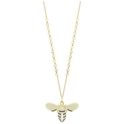 Ladies Swarovski Gold Plated Lisabel Bee Necklace 5394212