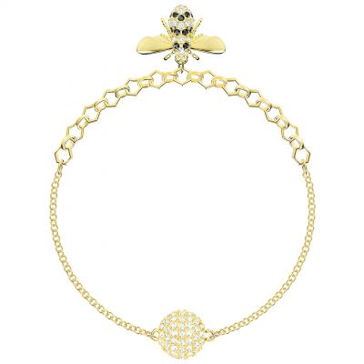 Ladies Swarovski Gold Plated Remix Bee Bracelet 5380077