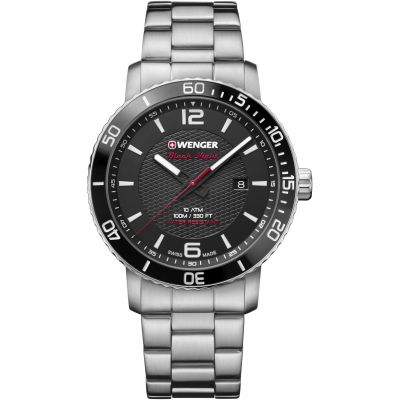 Wenger Roadster Black Night Herrklocka Silver 011841104