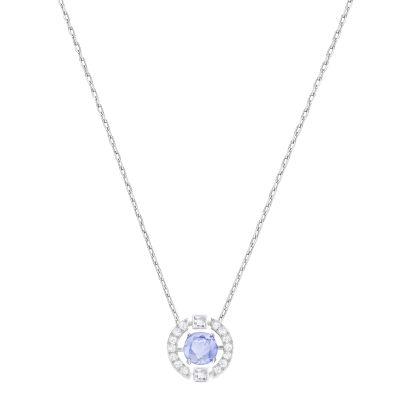 Ladies Swarovski Silver Plated Sparkling Necklace 5279425