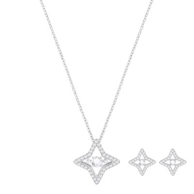 Biżuteria damska Swarovski Jewellery Sparkling Necklace and Earring Set 5349667