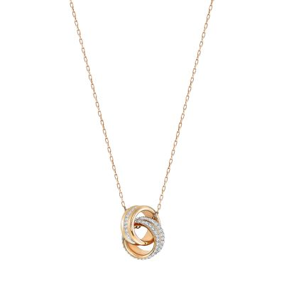 Ladies Swarovski Gold Plated Further Necklace 5240525