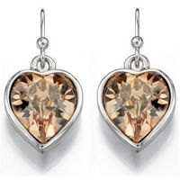Ladies Fiorelli Silver Plated Heart Earrings XE4521