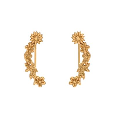Bee Blooms Crawler Gold Earrings OBJ16BBE02