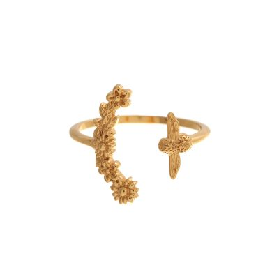 Bee Blooms Gold Ring OBJ16BBR02