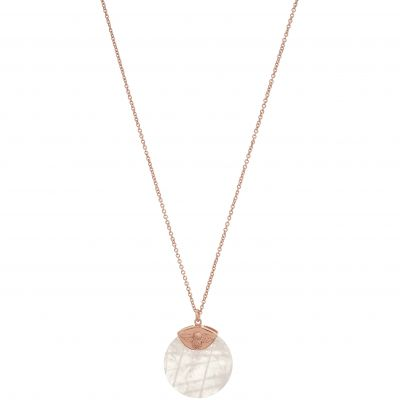 Bejewelled Bee Rose Gold & Rose Quartz Necklace OBJ16AMN23